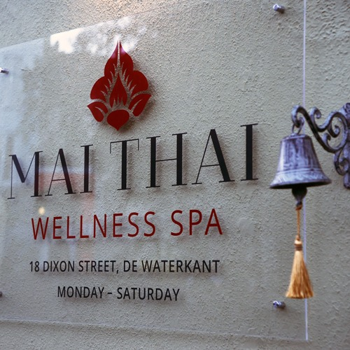 Mai Thai Wellness Spa Address Signage