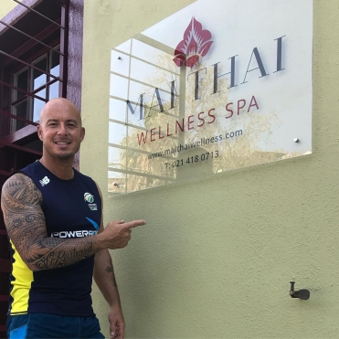 Herschel Gibbs at Mai Thai Wellness Spa Cape Town
