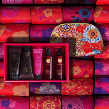 Rose red products at spa